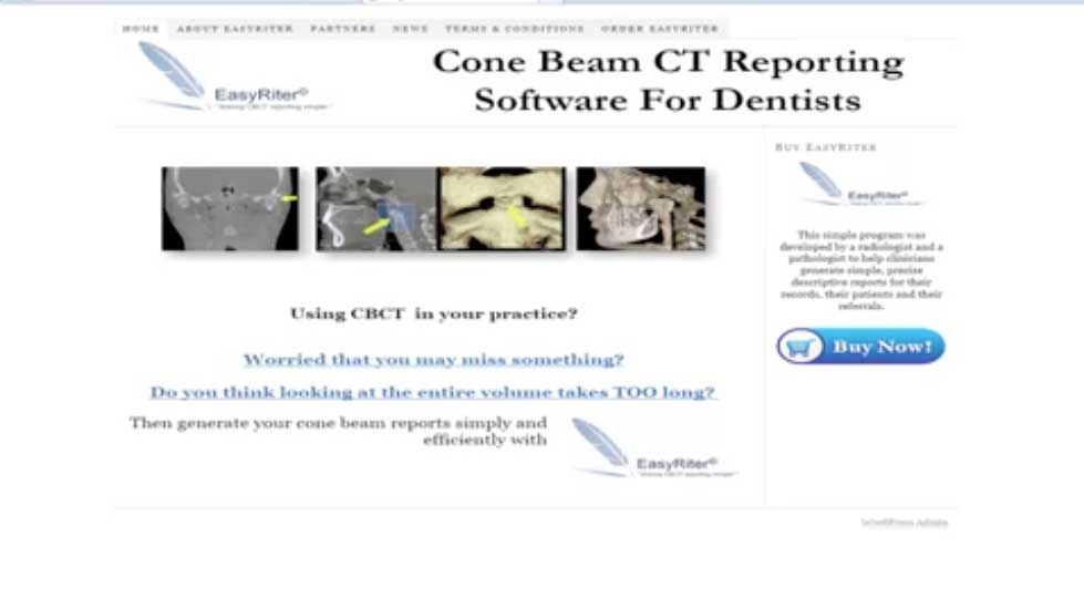 Cone Beam CT Report Software EasyRiter Documentation Technology